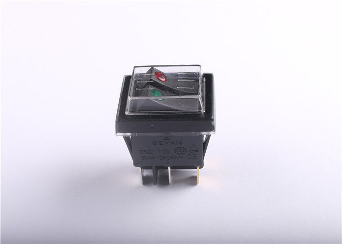 Waterproof 4 Pin Rocker Switch , KCD4-130FS On - Off Replacement Rocker Switch